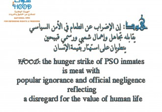 Ongoing Hunger Strike  In PSO Prison, Yemen